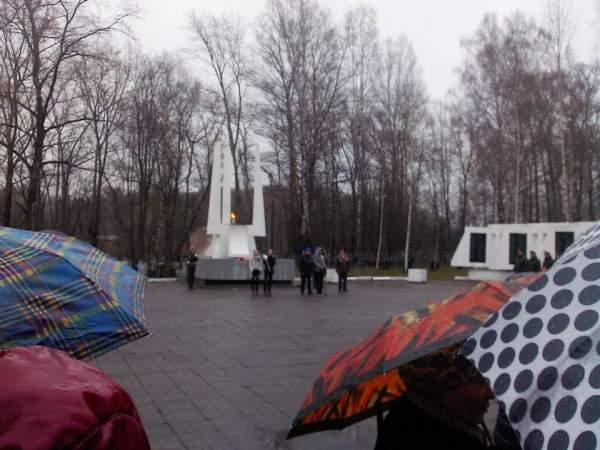 Митинг, посвященный Дню Победы на Петелинском кладбище